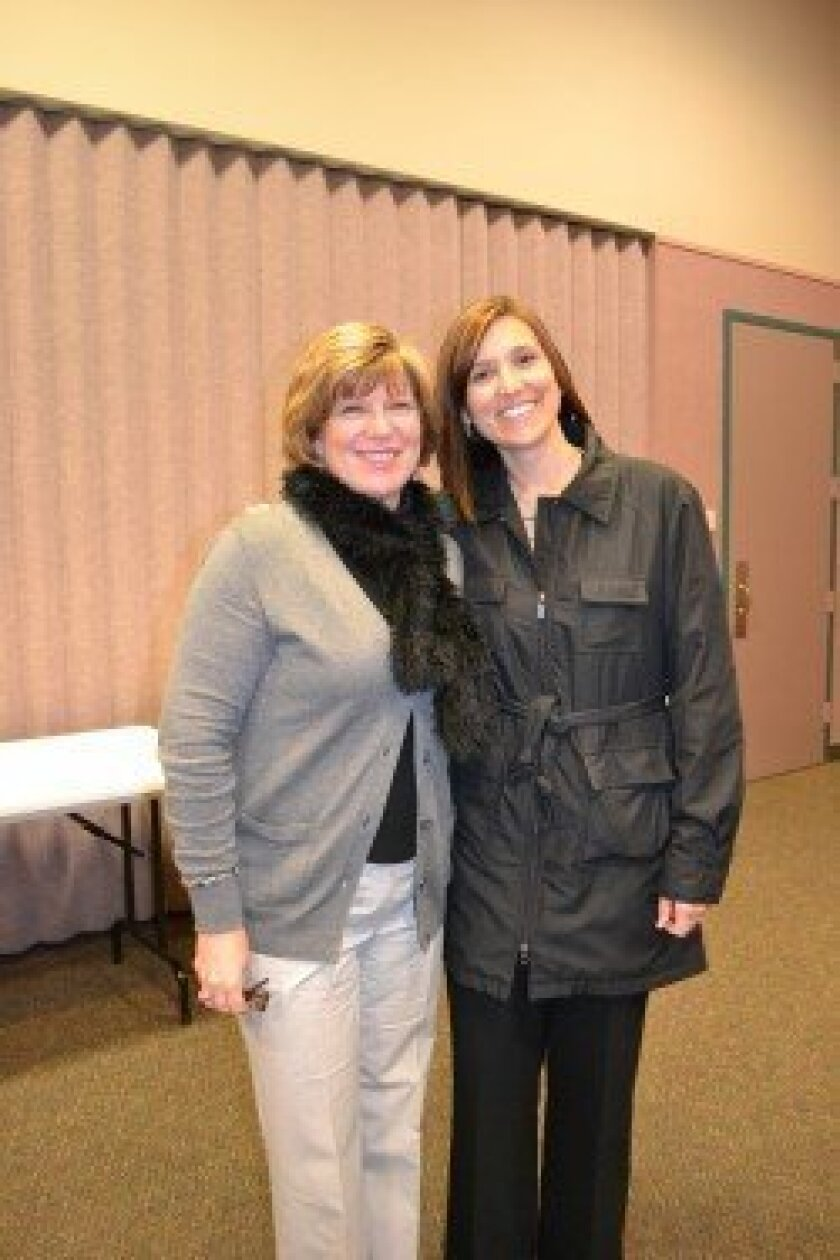Julie Norby, left, principal of Solana Santa Fe, and Mary Anne Nuskin, principal of Earl Warren Middle School