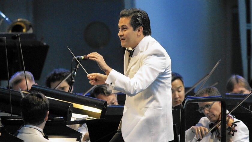 "Diego Matheuz conducts the L.A. Phil in Verdi's ""La Traviata"" at the Hollywood Bowl."