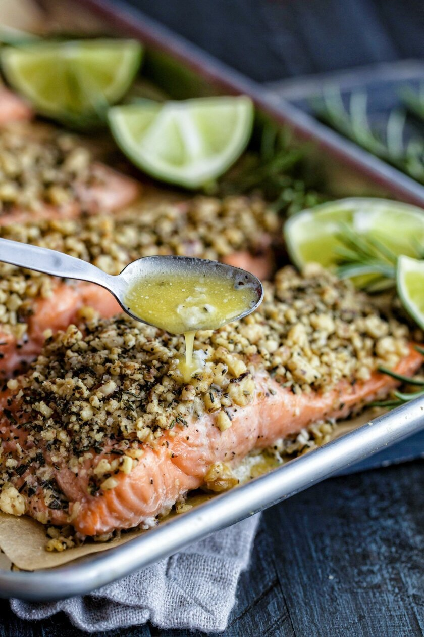 SAN DIEGO, CA March 3, 2016 :   Rosemary Salmon for Nicole Larson story on the savory and sweet uses of rosemary, style by Ani Arambula at her home on Thursday in San Diego, California.   (Eduardo Contreras / San Diego Union-Tribune)