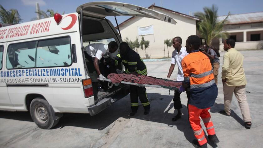 Twin explosions in Somali Capital of Mogadishu kills several, Somalia - 22 Dec 2018