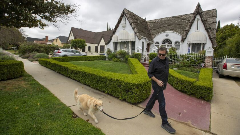 LOS ANGELES, CALIF. -- TUESDAY, MAY 7, 2019: Erich Anderson, who has lived in the Carthay Circle nei