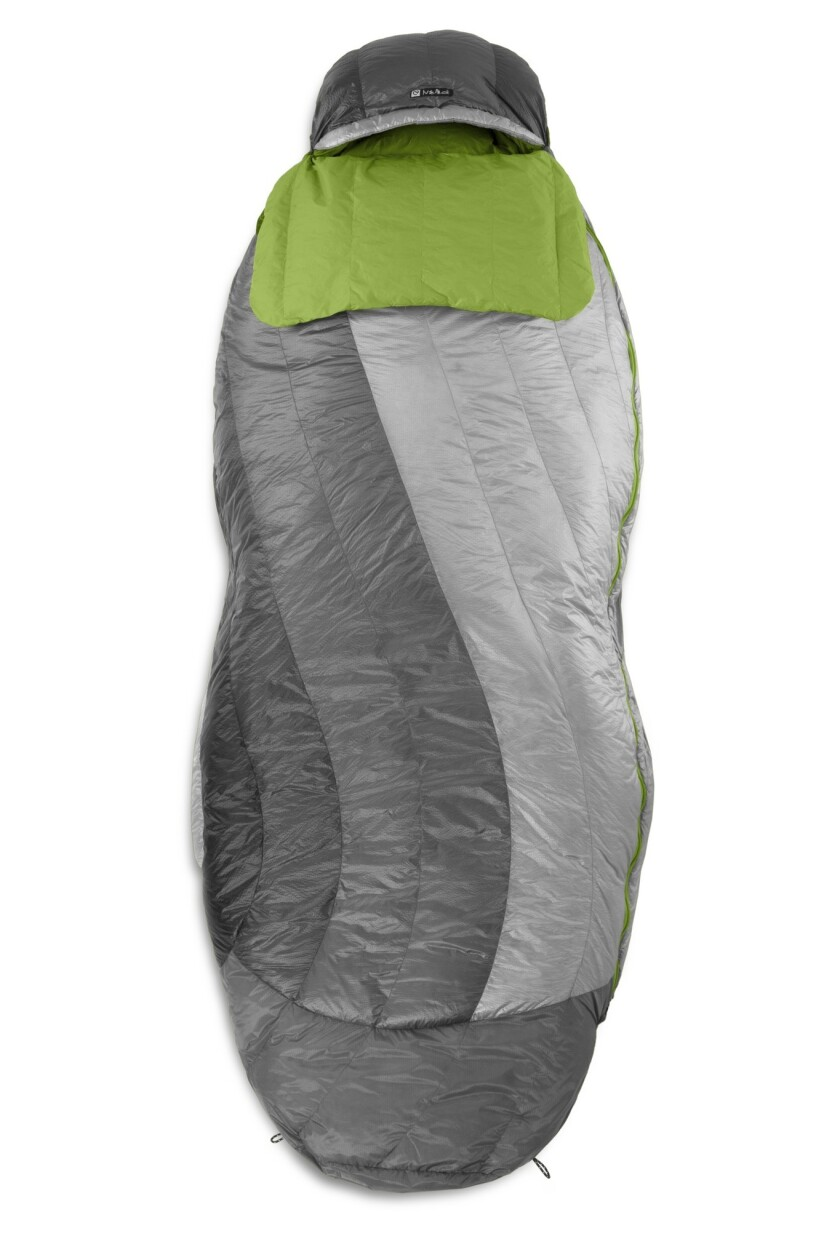 For those who wish they had more leg room with traditional sleeping bags, the Nocturne 30 Down has a peanut shape that allows for natural knee bends while sleeping.
