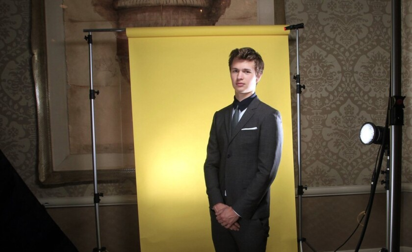 Ansel Elgort at the Four Seasons Hotel
