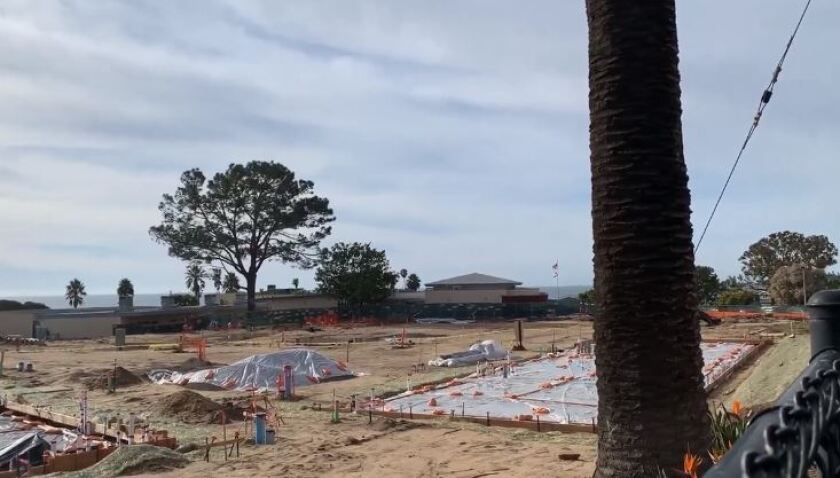 Construction halted on the Cardiff School rebuild project in December.