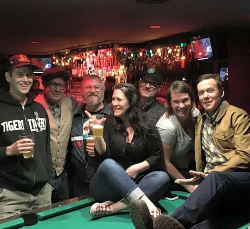 Several heavy hitters in the San Diego bar/restaurant world including Small Bar owner Karen Barnet (center, seated).