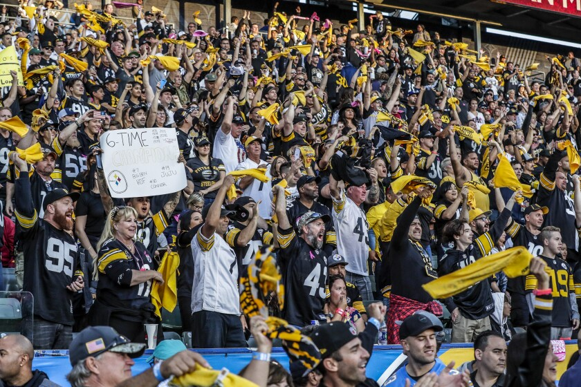 Steelers fans took over Dignity Health Sports Park during an October game against the Chargers.