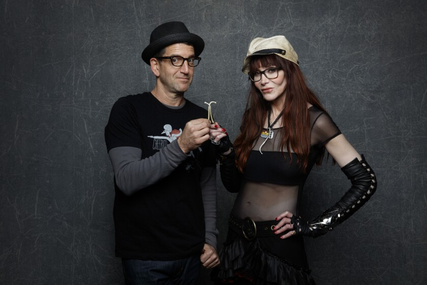 """""""Author: The JT Leroy Story"""" director Jeff Feuerzig and Laura Albert at the L.A. Times photo & video studio at the Sundance Film Festival in Park City, Utah."""