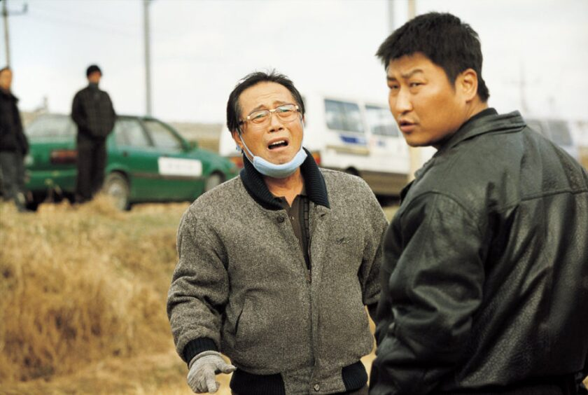 Byun Hee-bong and Song Kang-ho in the movie 'Memories of Murder'