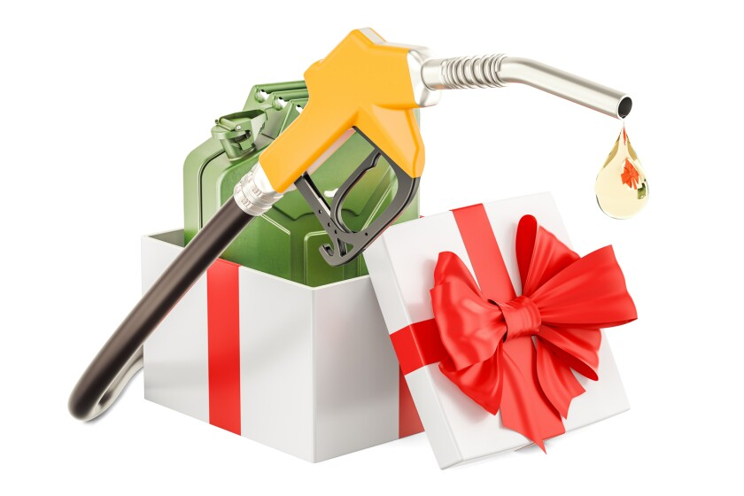 gasoline as gift