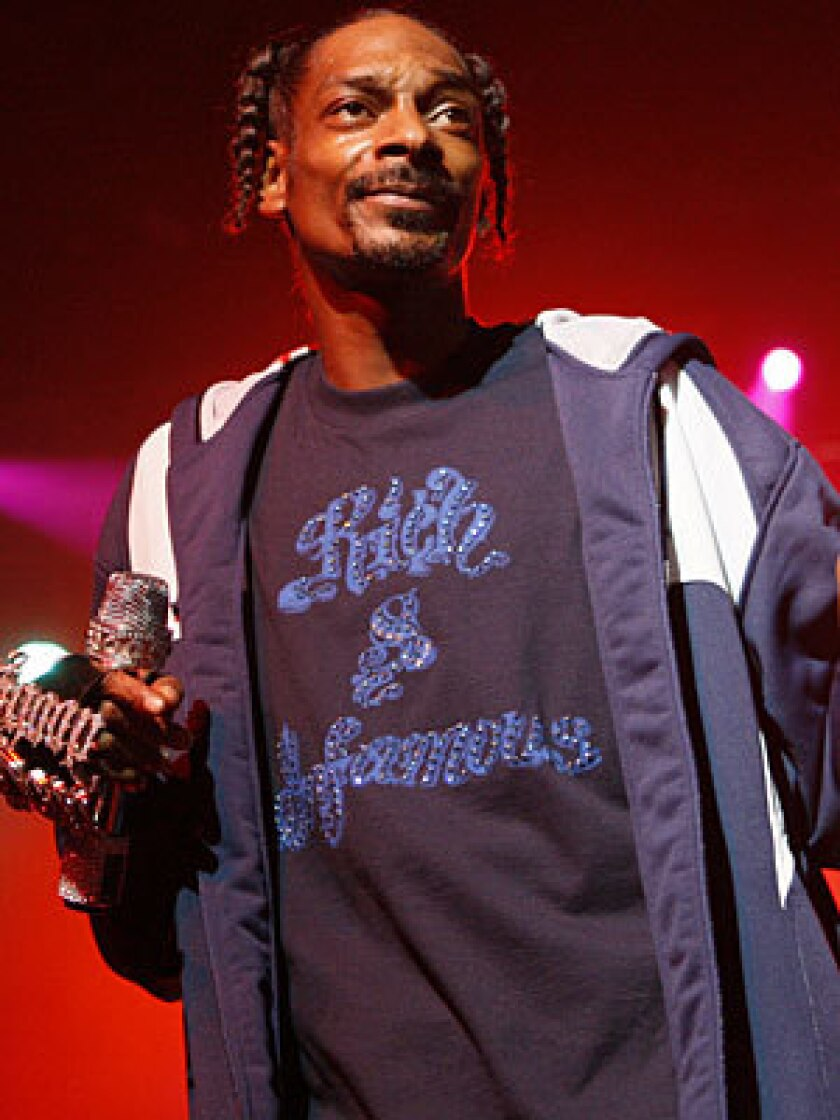 Snoop Dogg pictured at the NBA All-Star Gala in New Orleans.