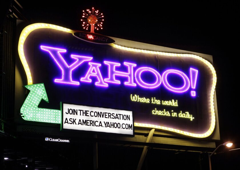 Yahoo stock is up after reports that the company is considering selling its Internet businesses