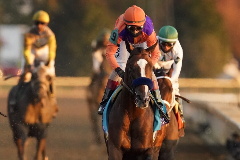 Authentic wins the Breeders' Cup Classic