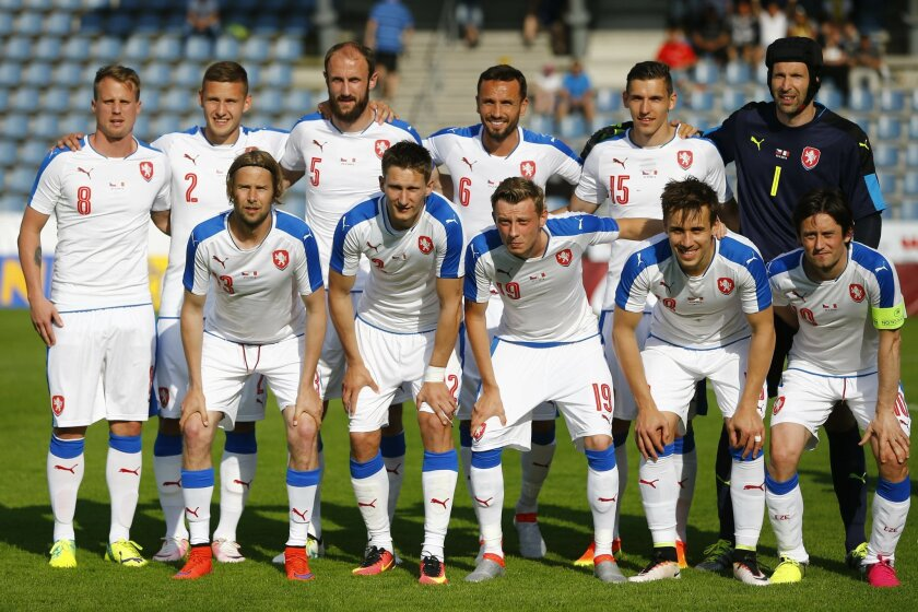 FILE - In this  Friday, May 27, 2016 file photo, team Czech Republic poses prior to a friendly soccer match between Czech Republic and Malta in Kufstein, Germany. The European Championship has a reputation for being the soccer fans' favorite tournament on the global calendar. (AP Photo/Matthias Sch