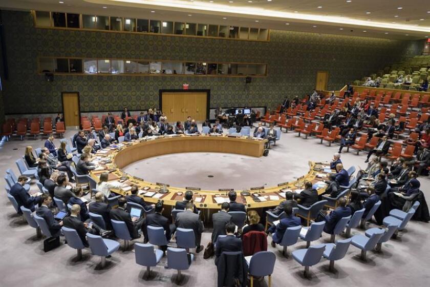 Fotografía cedida donde aparece el pleno del Consejo de Seguridad durante una reunión celebrada en la sede del organismo en Nueva York (EE.UU.). EFE/Manuel Elias/ONU/SOLO USO EDITORIAL/NO VENTAS