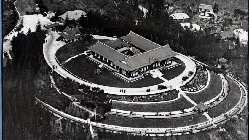 Undated file photo of the Adolph Bernheimer home and gardens in Hollywood. It's now Yamashiro's Rest