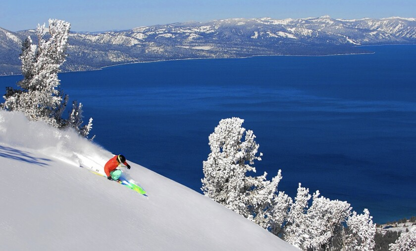 Heavenly, shown in an earlier season, closed last weekend along with other ski resorts in the Lake Tahoe area.