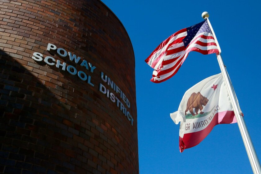 The Poway Unified School District's office in Poway.