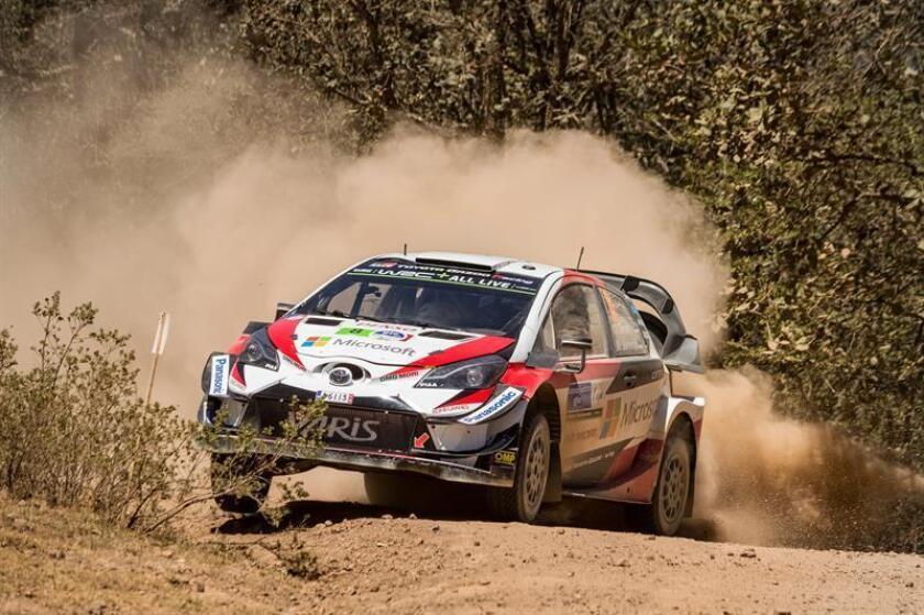 Ott Tanak of Estonia drives his Toyota Yaris WRC during day 2 of Rally Mexico 2018, Guanajuato, Leon, Mexico. EFE/EPA/FILE