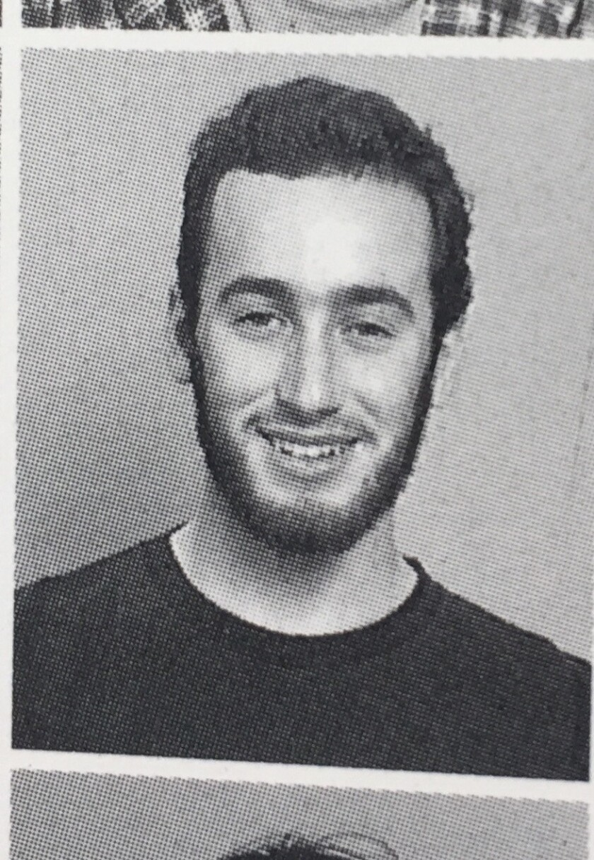 Stephen Miller in his junior year at Santa Monica High School.