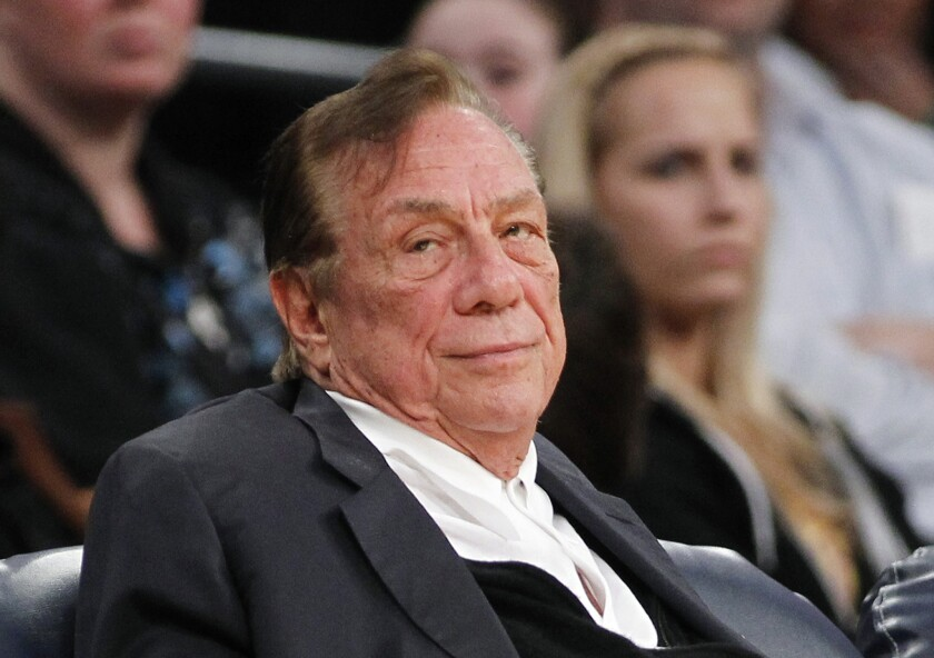 Donald Sterling watches the Clippers play the Lakers at Staples Center on Dec. 19, 2011.