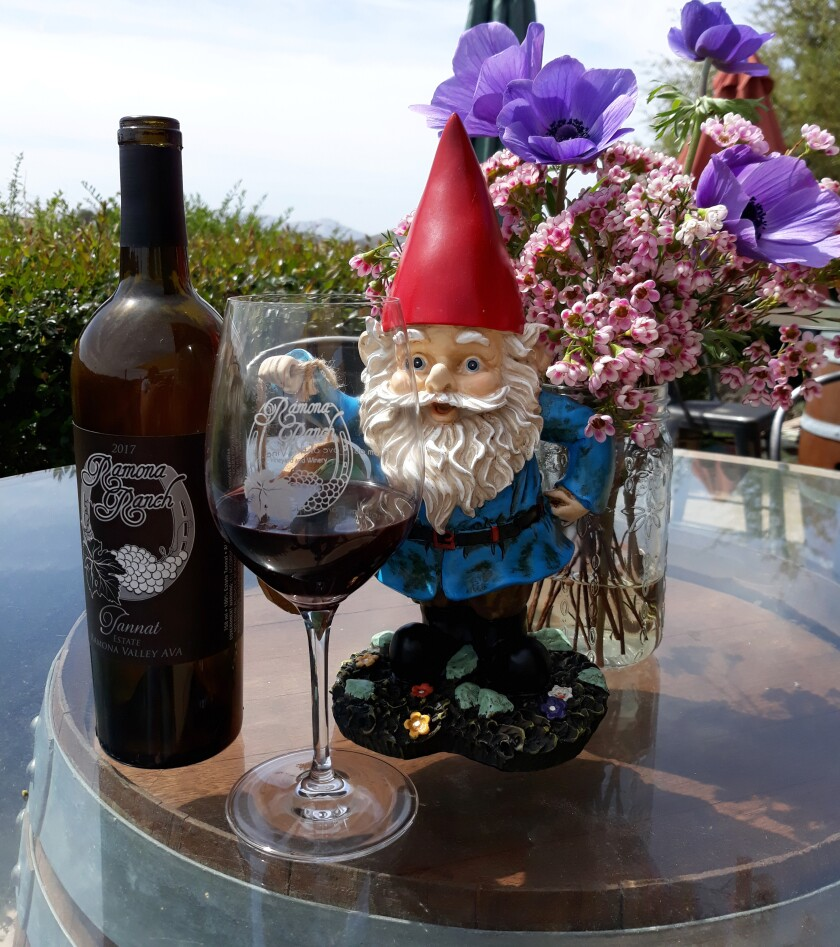 """The """"Gnome Ranger"""" will welcome guests to the Western-themed Ramona Ranch Vineyard and Winery in May."""