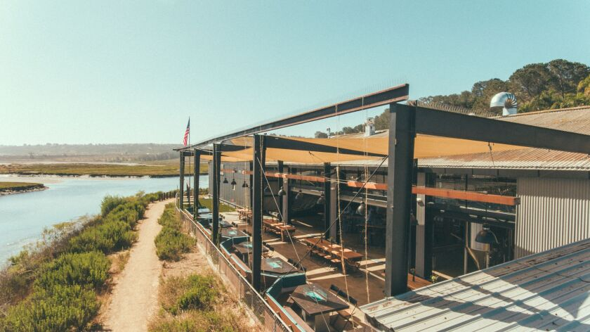 Viewpoint Brewing Co.'s patio is right on the San Dieguito Lagoon.
