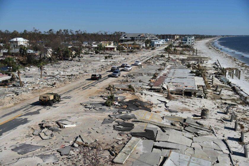 Devastation left behind when Hurricane Michael hit Mexico Beach, Fla., last week.