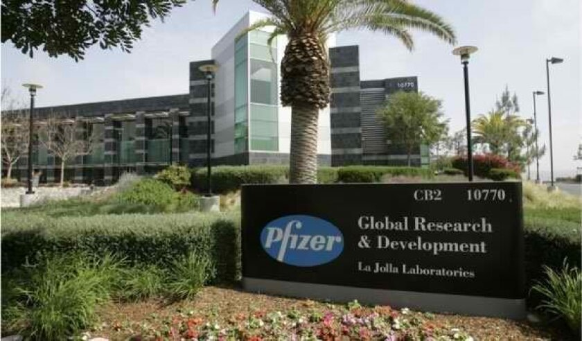 Pfizer's La Jolla location.