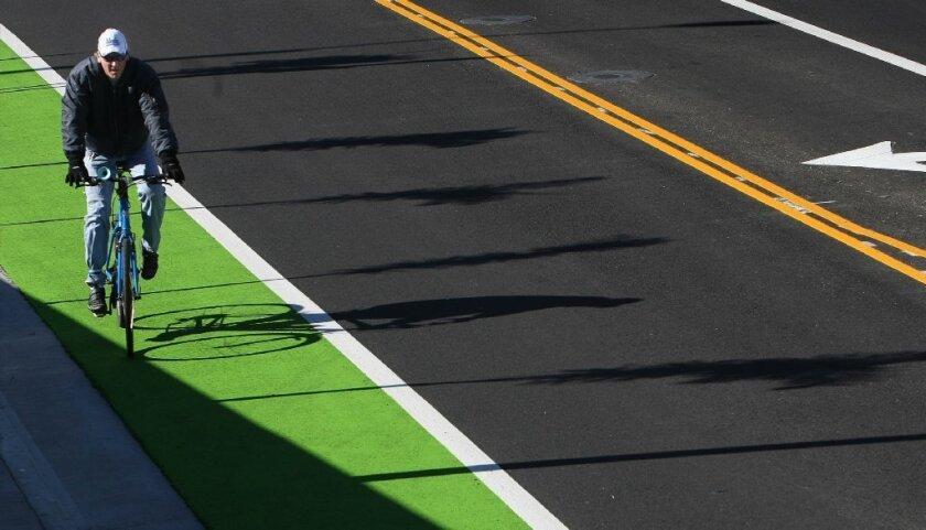 Santa Monica bike lane