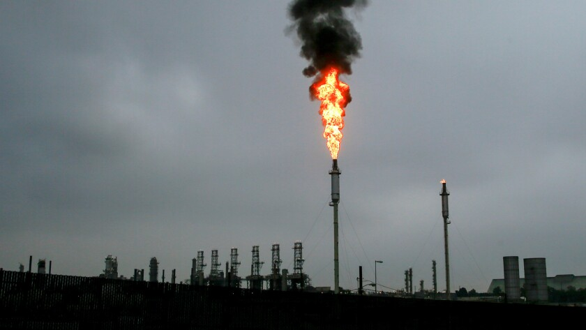 A flaring event at the Torrance Refining Co. facility was triggered by a power outage that left more than 100,000 South Bay residents without electricity.