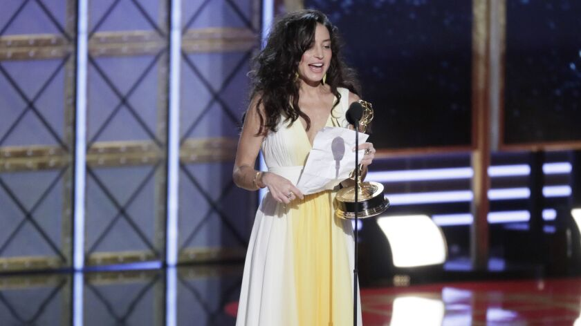 LOS ANGELES, CA., September 17, 2017: Reed Morano wins the Emmy for Outstanding Directing for a Dr