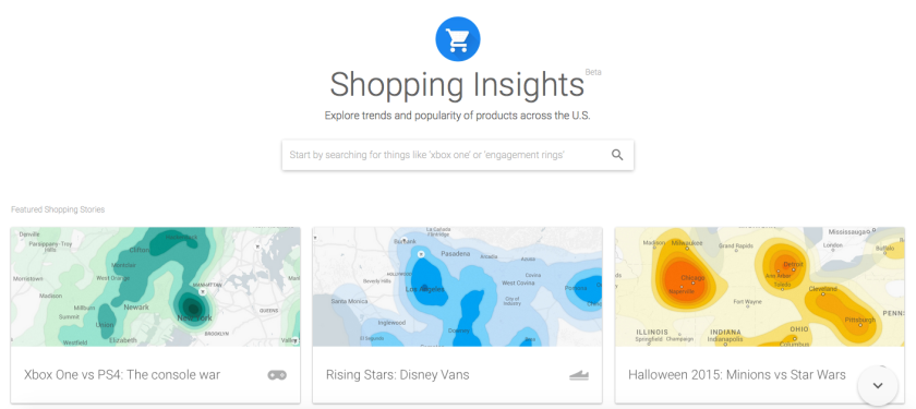 Google's new Shopping Insights tool shows retailers valuable information about what shoppers are searching for, and from where.