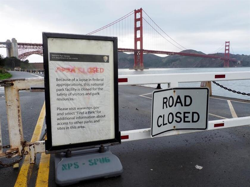 The entrance to Fort Point National Historic Site, a masonry seacoast fortification located on the southern side of the Golden Gate Bride, a popular tourist site is closed in San Francisco, California, USA, Jan. 08, 2019. EPA-EFE/FILE/JOHN G. MABANGLO