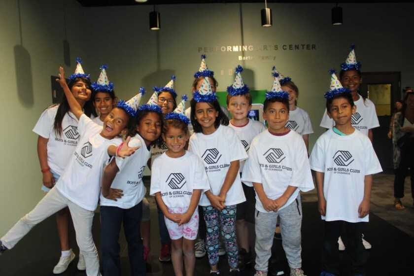 Members of the Boys & Girls Clubs of Oceanside, which recently received a grant from Rest Haven Children's Health Fund.