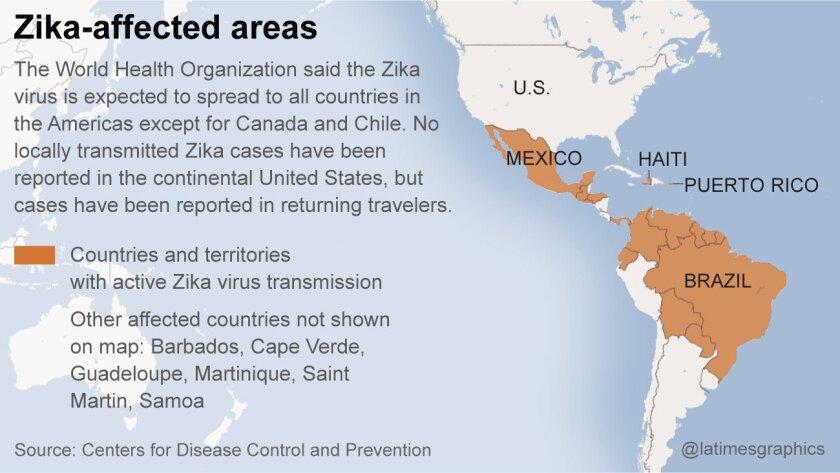 Where Zika Virus has spread