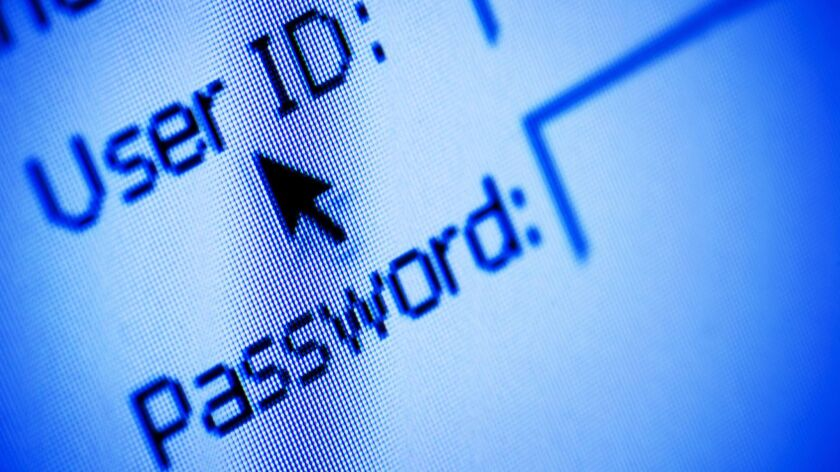 Username and password security on a website, web stock, computer, cyber security