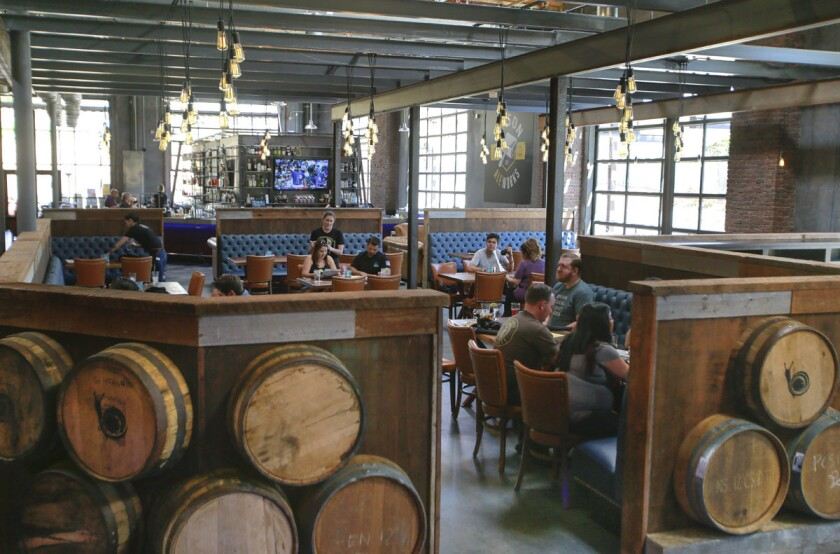 SAN MARCOS, CA: April 12, 2017 | The new Urge Gastropub and Common House features 21,000-square-feet of space which houses a Mason Ale Works brewery, restaurant, three bars, an 8-lane bowling alley and a large patio with bocce ball courts, and oversize table games. | Photo by Howard Lipin/San Diego Union-Tribune/Mandatory Credit: HOWARD LIPIN SAN DIEGO UNION-TRIBUNE/ZUMA PRESS