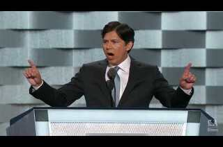 State Sen. Kevin de León (Calif.) speaks at the Democratic National Convention