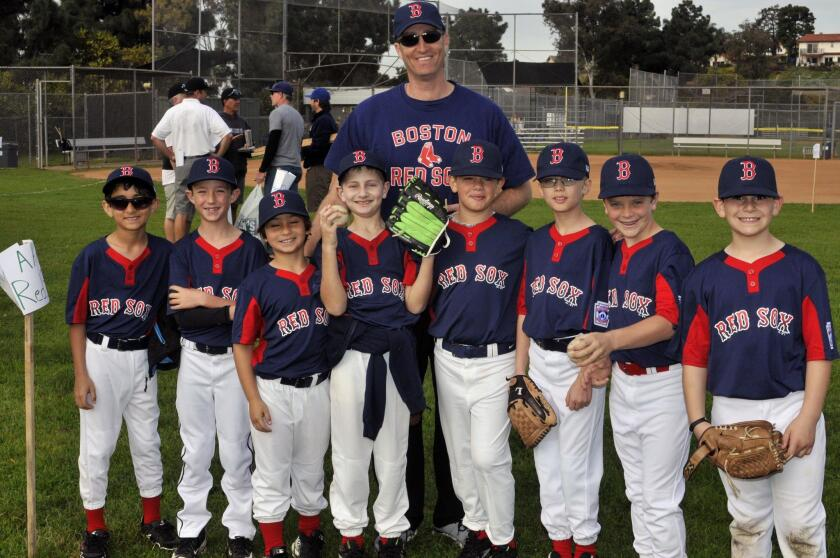 Coach Ben Weiss and the Red Sox