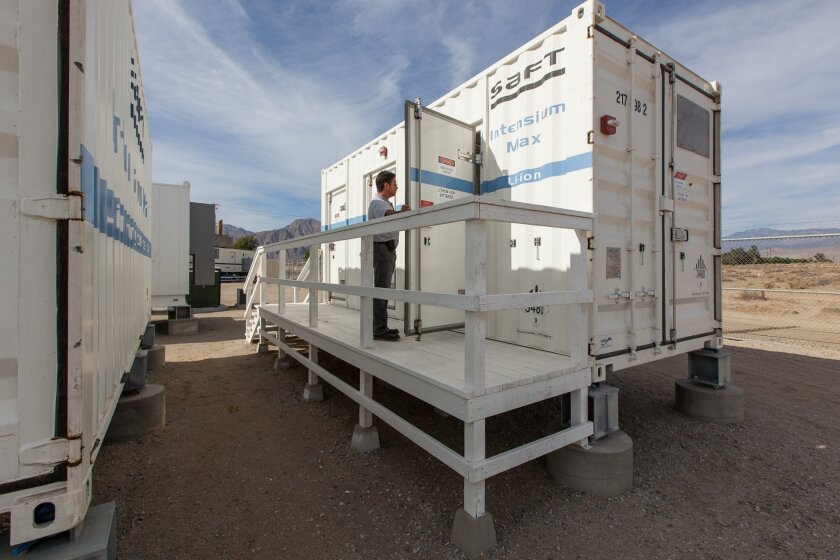 Energy storage has the potential to make the grid more efficient and reliable. A micro-grid demonstration in Borrego Springs uses trailer-sized batteries based on lithium-ion technology.
