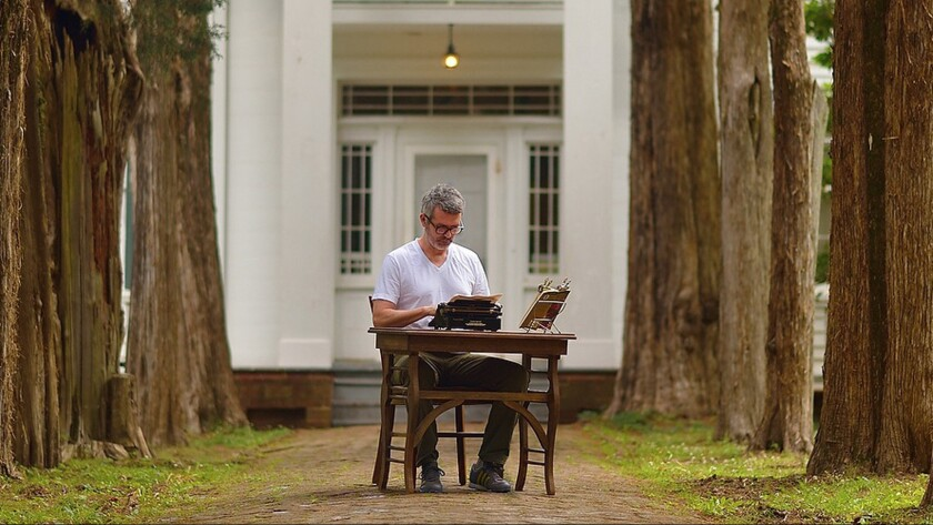 """Tim Youd is retyping William Faulkner's """"The Sound and the Fury"""" at the author's home in Mississippi."""