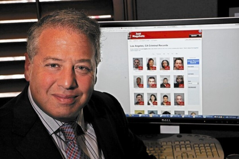 Brian Kabateck, a Los Angeles attorney, filed a lawsuit alleging that JustMugshots.com misappropriates people's likenesses for commercial gain, a violation of California's civil code.