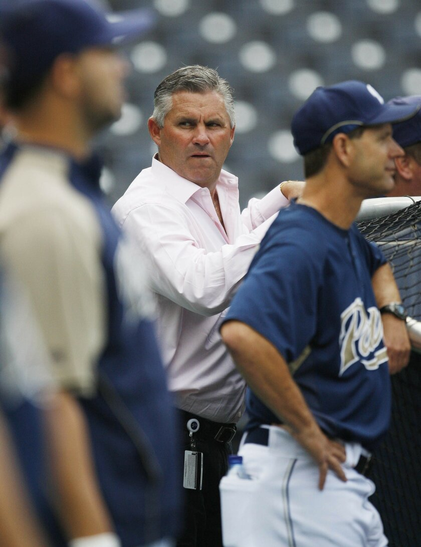 Kevin Towers orchestrated the Padres' roster and on-field turnaround since July. (Sean M. Haffey / Union-Tribune)