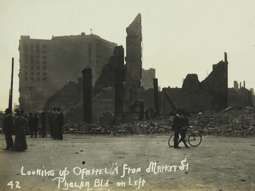 Photos of San Francisco after great earthquake of 1906 are sold at