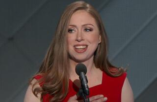 Chelsea Clinton pays tribute to her mother at the Democratic National Convention