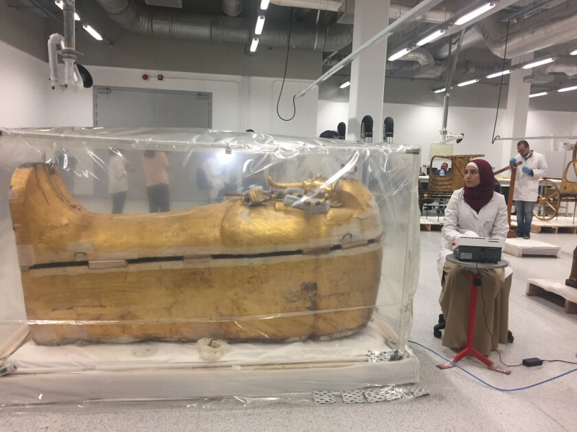 King Tut's coffin is in 'very bad condition'; Egypt begins restoration