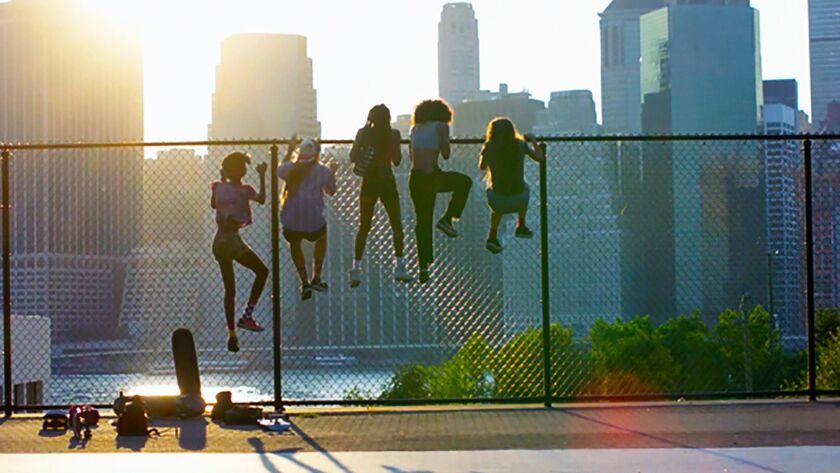"Kabrina Adams, Nina Moran, Ajani Russell, Brenn Lorenzo and Rachelle Vinberg in ""Skate Kithen."""