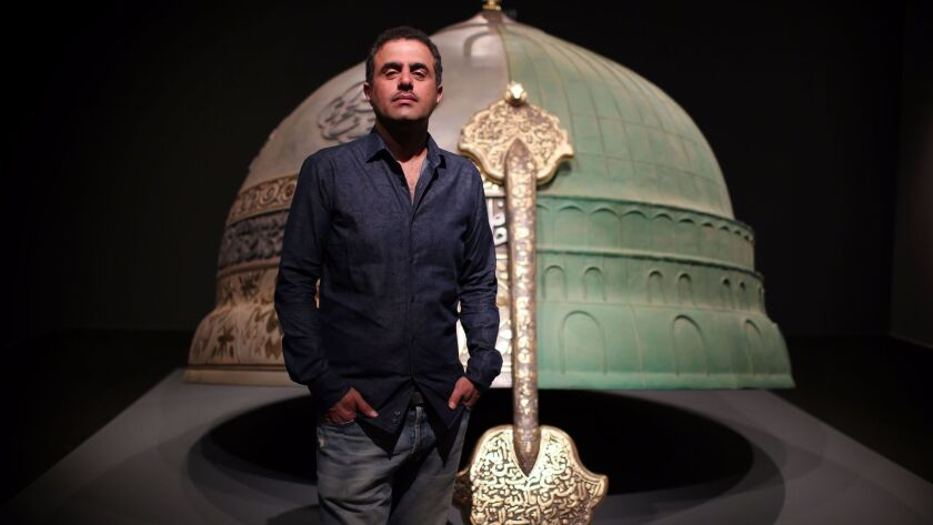 """LOS ANGELES, CA., APRIL 19, 2017--""""Abdulnasser Gharem: Pause"""" at LACMA addresses the aftermath of th"""