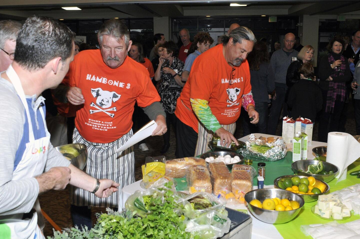Teams chose ingredients from items commonly available at food banks
