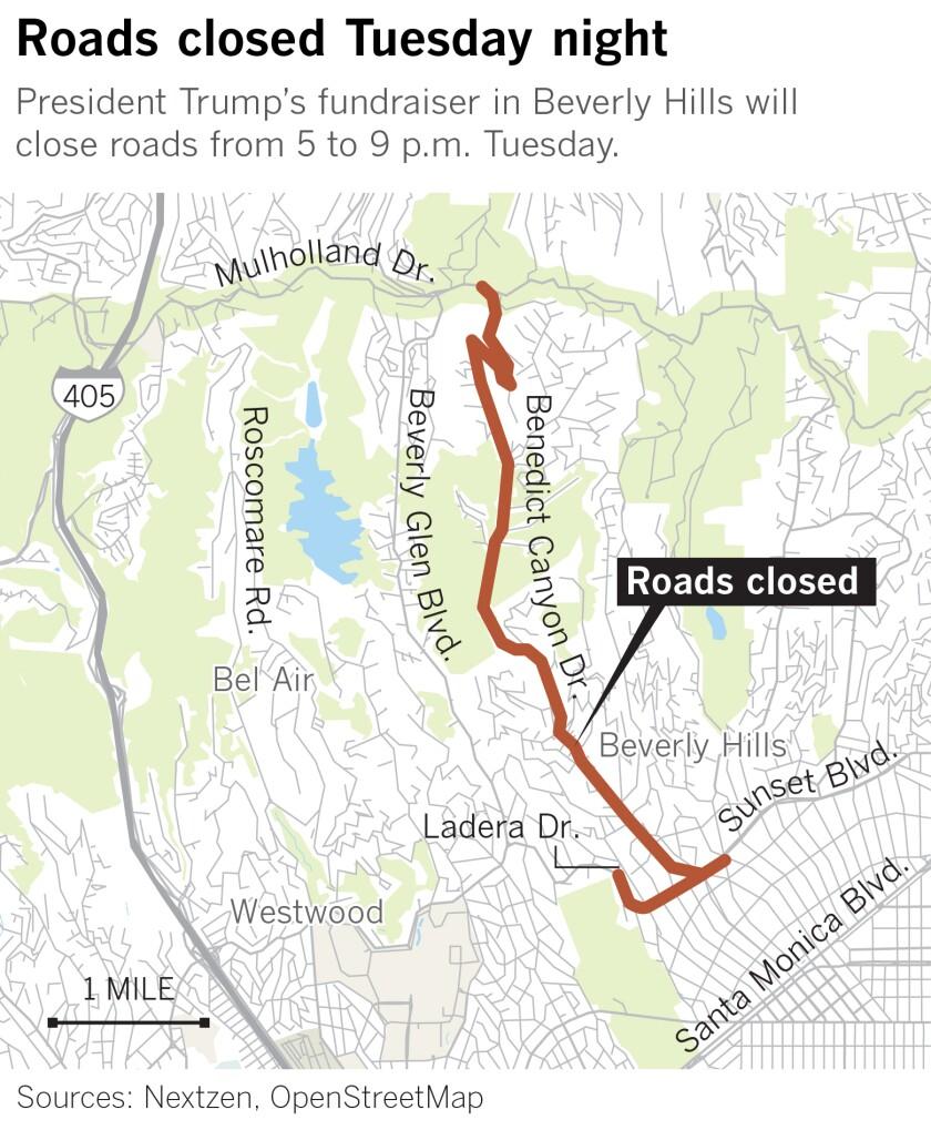 Trump street closures map